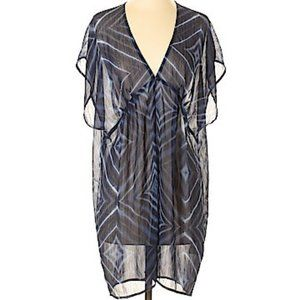Printed Sheer Dress Cover up caftan Old Navy S Med